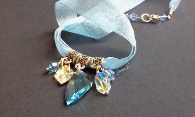 Celine - Collana con cristalli Swarovski color Acquamarina - Crystallized with Swarovski