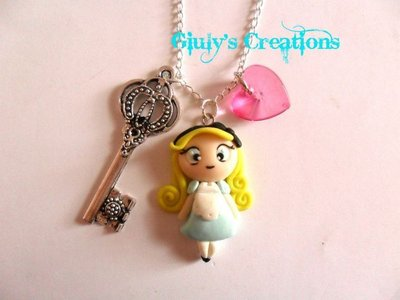 Collana Alice in Wonderland in fimo