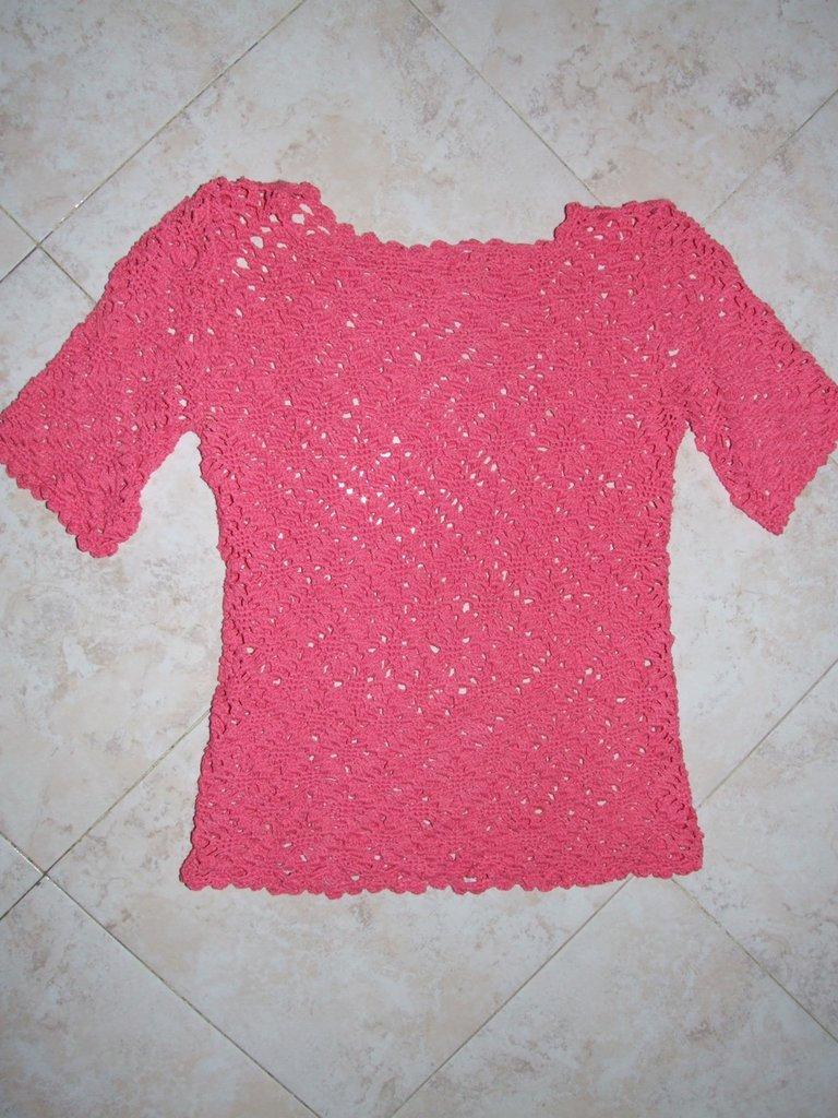 maglietta uncinetto taglia 40