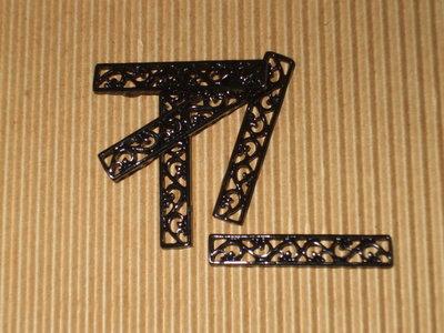 7 moduli bracciale metallo nero lavorato vend.