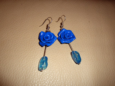 Orecchini Roselline azzurre