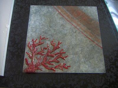 piatto corallo 30x30
