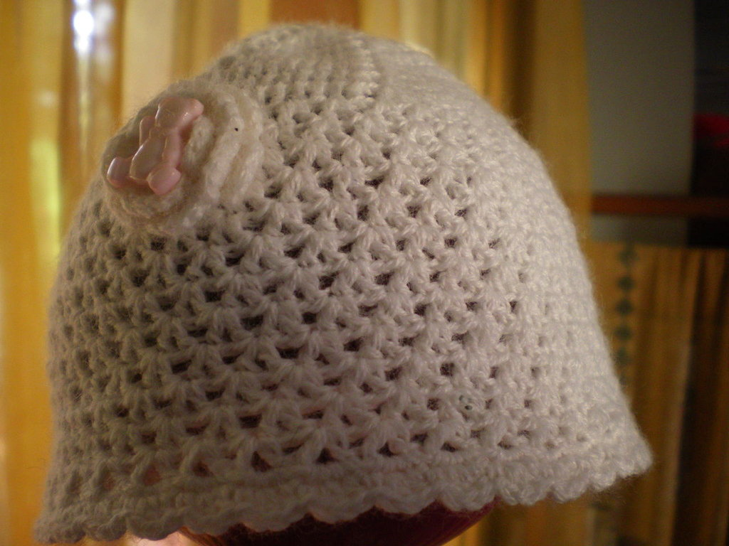 CAPPELLINO BAMBINO/NEONATO ALL'UNCINETTO ---- CROCHET HAT BABY/GIRL