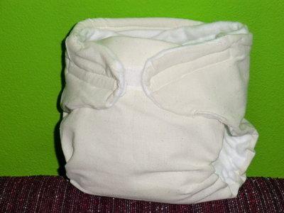 Pannolini lavabili di cotone non sbiancato