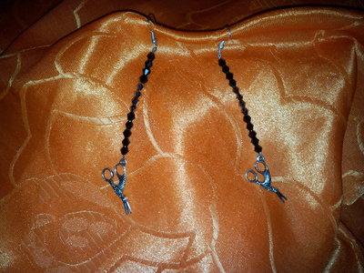 orecchini con perline swaroski con ciondoli