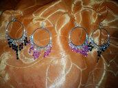 orecchini artigianali a cerchi