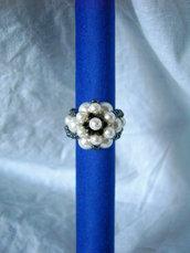 Anello perle e swarowski