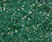 Perline tipo Bugle verdi