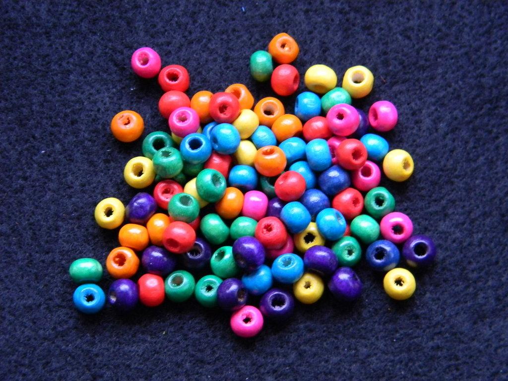 Perline di legno mutilcolor