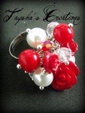 ''Red bunch'' anello a grappolo