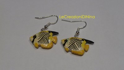 Orecchini pesci gialli