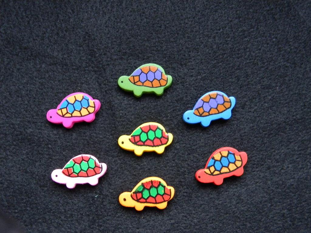 Perle in legno a forma di tartaruga