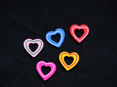 Perle in legno a forma di cuore