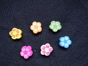 Perle in legno a forma di fiore