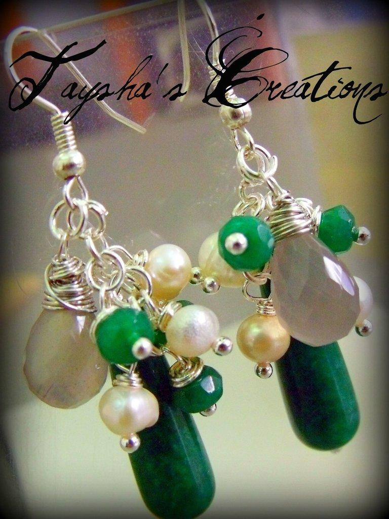 ''Caos di perle'' orecchini