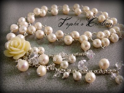 ''Pearls Waterfall'' Collana