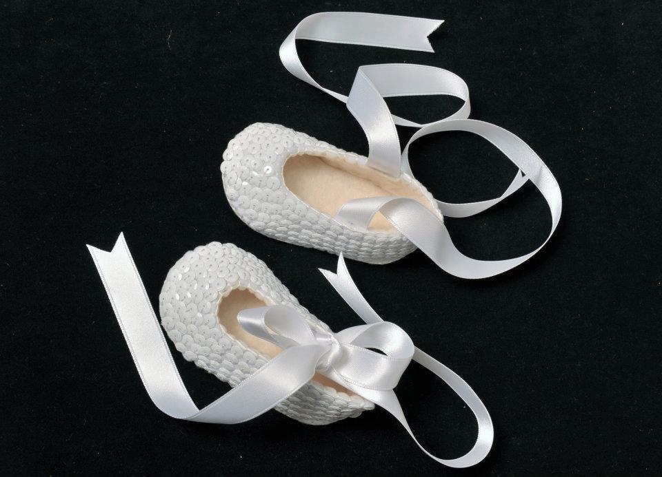 scarpina neonato feltro