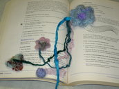 * needle felted enchanted forest bookmark adornment