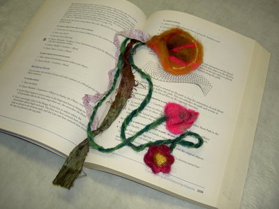 needle needle felted enchanted forest bookmark adornment
