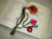 needle needle felted enchanted forest bookmark adornment