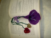 needle felted enchanted forest bookmark adornment