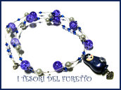 Collana Matrioska BLU dea regalo Natale Fimo Cernit