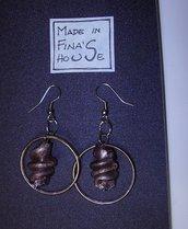 orecchini pendenti vetro