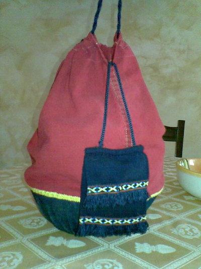 borsa a secchiello con cestino