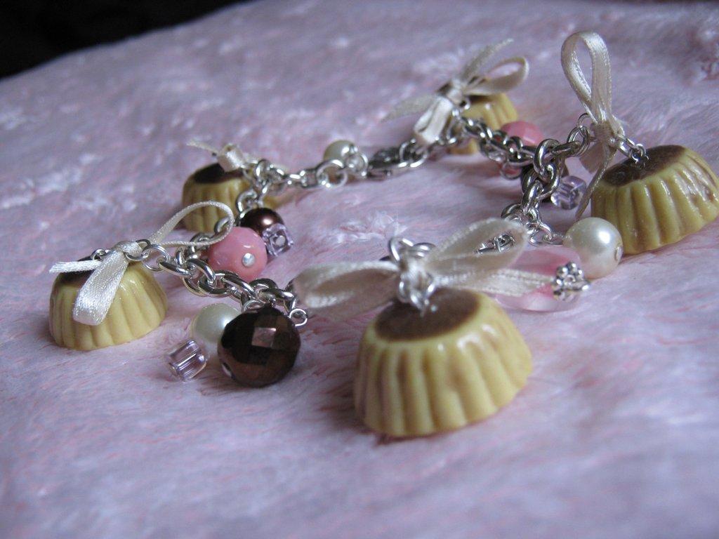 braccialetto crème caramel fimo