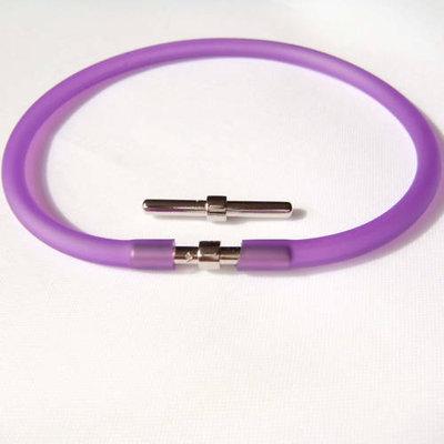 braccialetto cauciù viola
