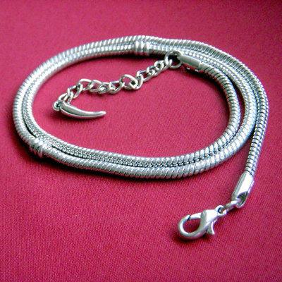 Base x Collana flessibile chiusura moschettone - 47 cm