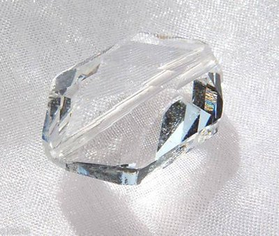 2 pz - Perla in Cristallo Boemo - Crystal - 18 x 12 mm