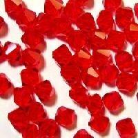 100 biconi cristallo boemo 4mm