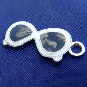 2 pz - Charms Smaltati - Occhiali da Sole - 27 mm
