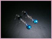 orecchini perla azzurra