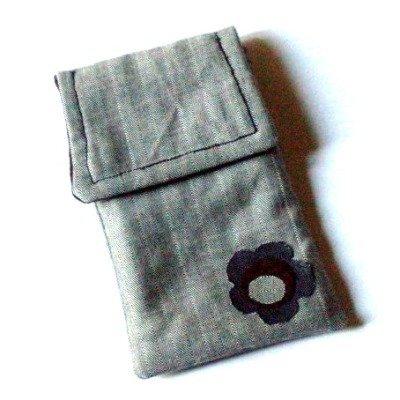 PORTA CELLULARE grigio/marrone