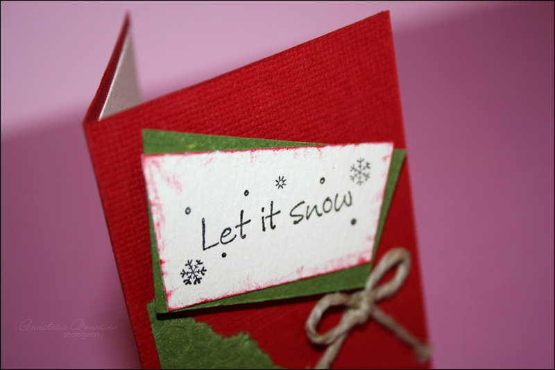 "Cartolina Natale ""Let it snow"""