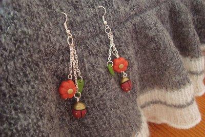 orecchini spring con coccinelle