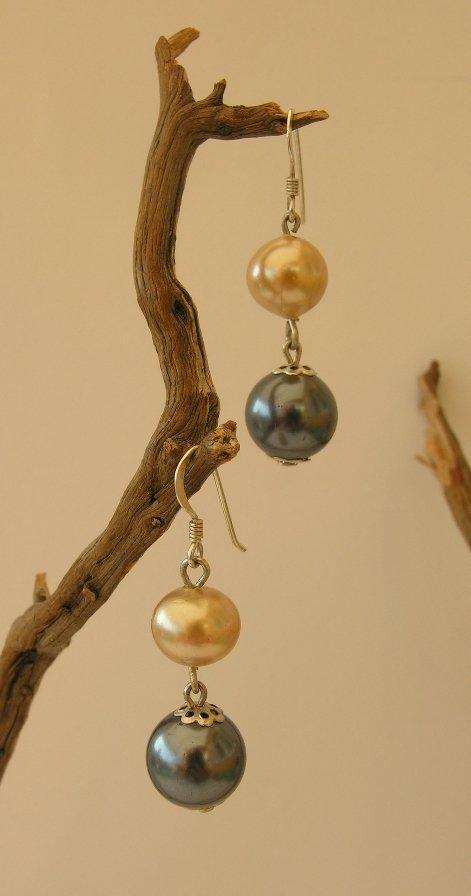 orecchini  2 perle