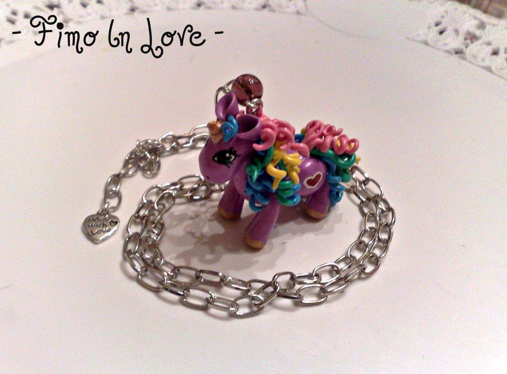Collana Pony arcobaleno