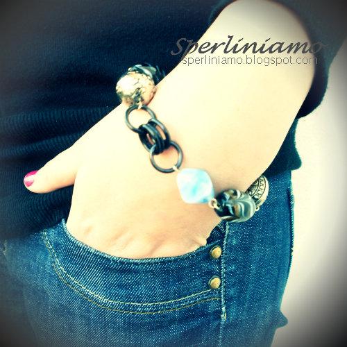 Bracciale con catena e perline