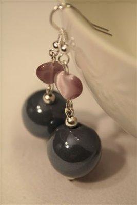 Orecchini ceramica Grigio perla