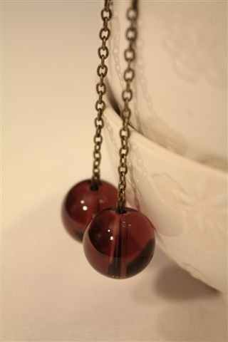 Orecchini Viola AYANO - bronzo e vetro