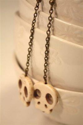 Orecchini Skulls - teschi in pietra e bronzo