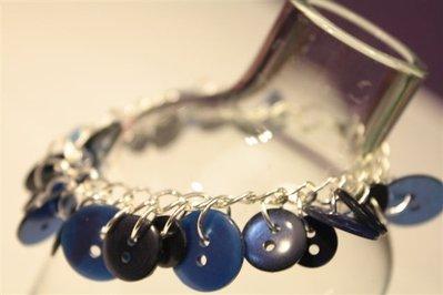 Deep Blue - Bracciale con Bottoni Vintage anni '50!!