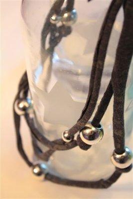Collana Jersey Blu/argento