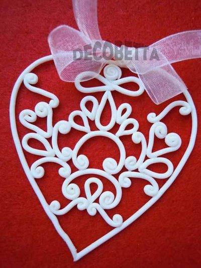 decorazione natalizia cuore