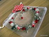 "Bracciale "" I love ... "" total red ROSSO"