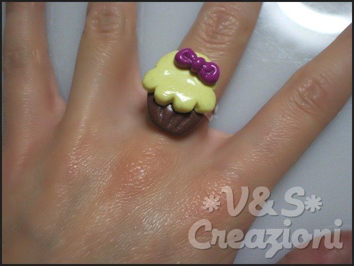 Anello Muffin con fiocco