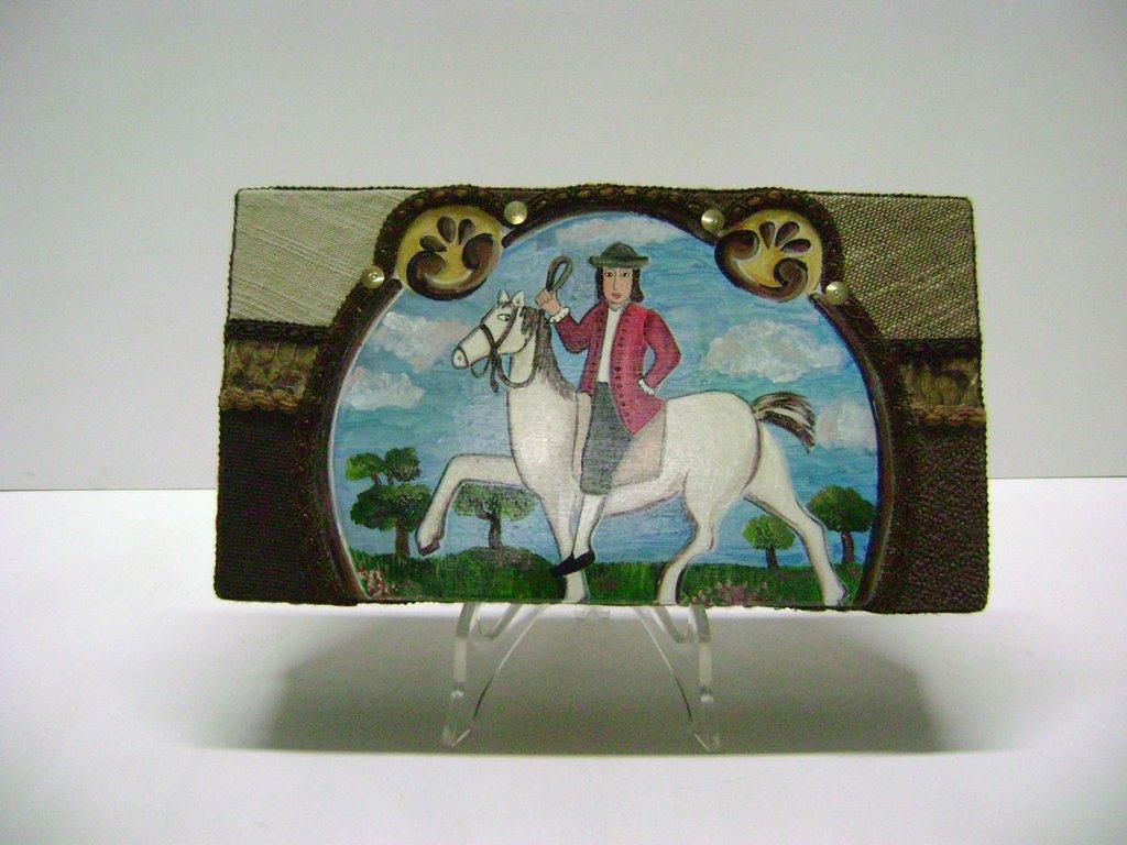 """Scatola """"CAVALLO e CAVALIERE""""         box """"HORSE and RIDER"""""""